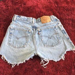 Levi's High-Waist Denim Shorts